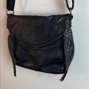 The Sak Black Leather Crossbody Bag
